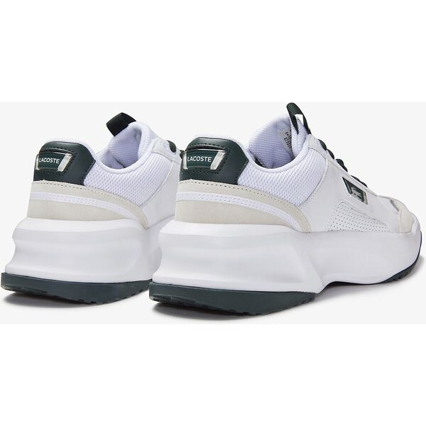 Men's Ace Lift Colourblock Leather Reflective Trainers, WHITE/DARK GREEN, hi-res