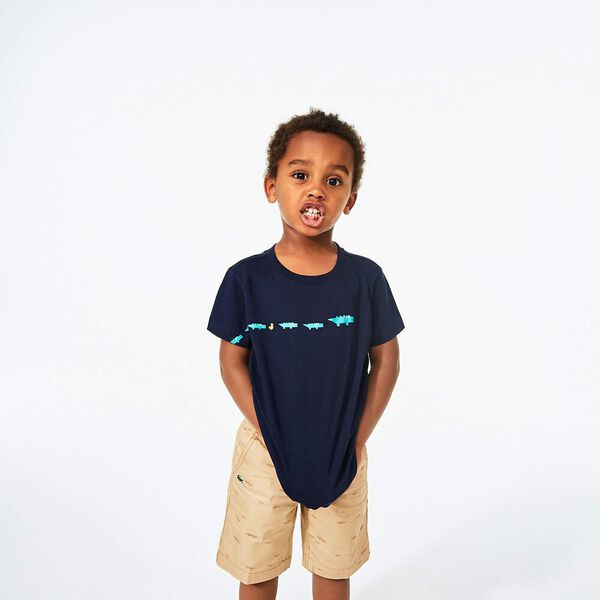 Boy's Crew Neck Printed Cotton T-shirt