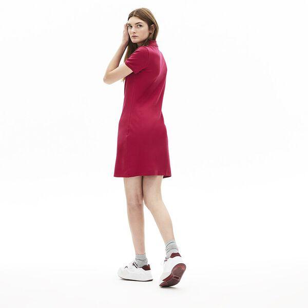 Women's Classic Slim Fit Polo Dress, FAIRGROUND PINK, hi-res