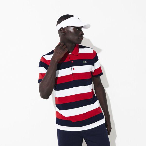Men's Tennis Striped Super Light Polo