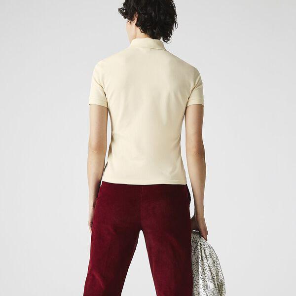 Women's LIVE Slim Fit Stretch Cotton Shirt, NATUREL CLAIR, hi-res