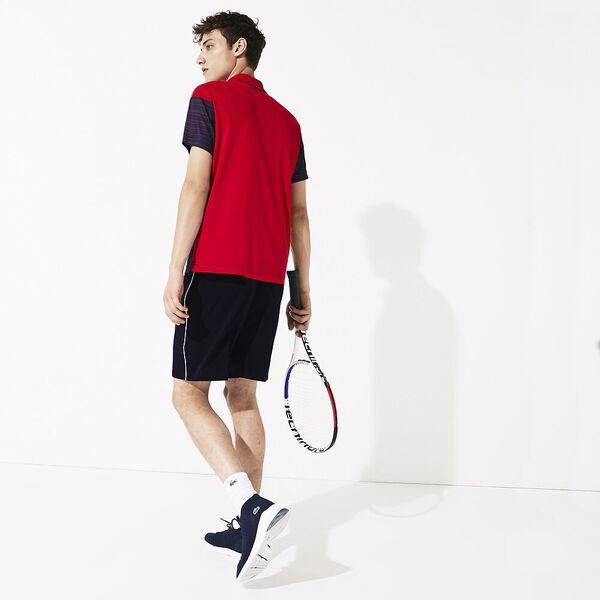 Men's Novak Djokovic Stretch Short, NAVY BLUE/WHITE, hi-res