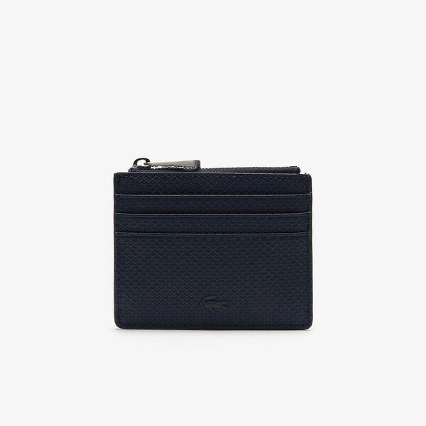 Men's Chantaco Matte Piqué Leather Zip 6 Card Holder
