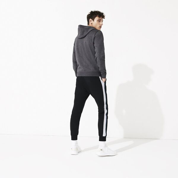 Men's Basic Sport Hoodie, PITCH/NAVY BLUE, hi-res