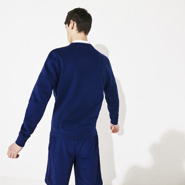 Men's SPORT Graphic Print Fleece Sweatshirt, METHYLENE/NOIR-BLANC, hi-res