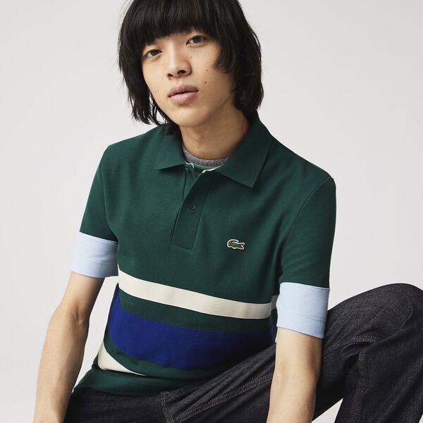 Men's Heritage Slim Fit Colorblock Polo, SWING/SABLER-COSMIC-CREEK, hi-res