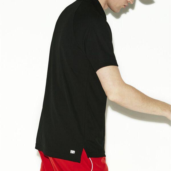 Men's SPORT Breathable Anti-UV Piqué Polo, NOIR, hi-res
