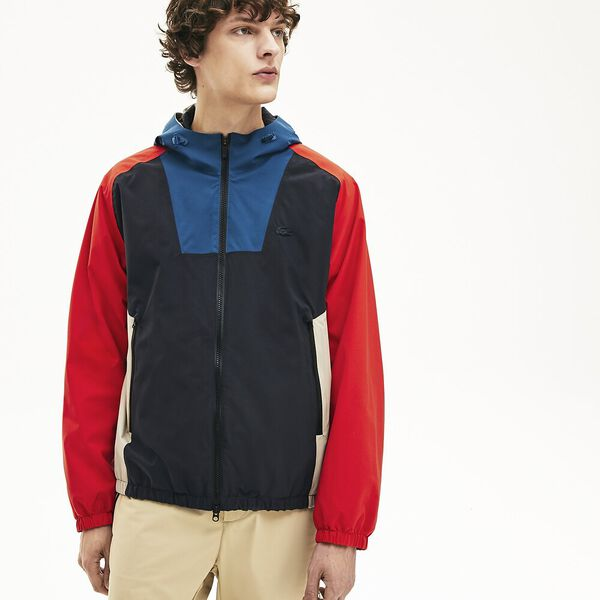 Men's Lacoste Motion Water-Resistant Colourblock Zip Jacket