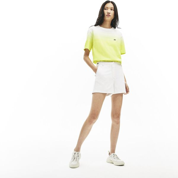 Women's Made in France Contrast Stitching Shorts, BLANC/MARINE, hi-res