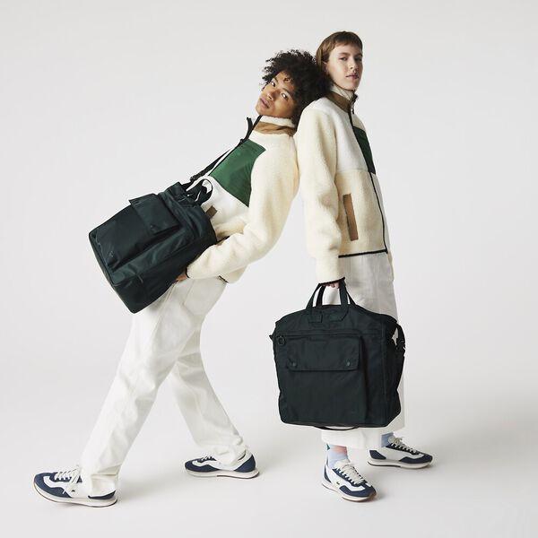 Unisex Back To L Multipocket Nylon Tote Bag