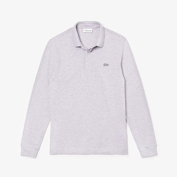 Men's Long-sleeve Paris Polo, ARGENT CHINE, hi-res