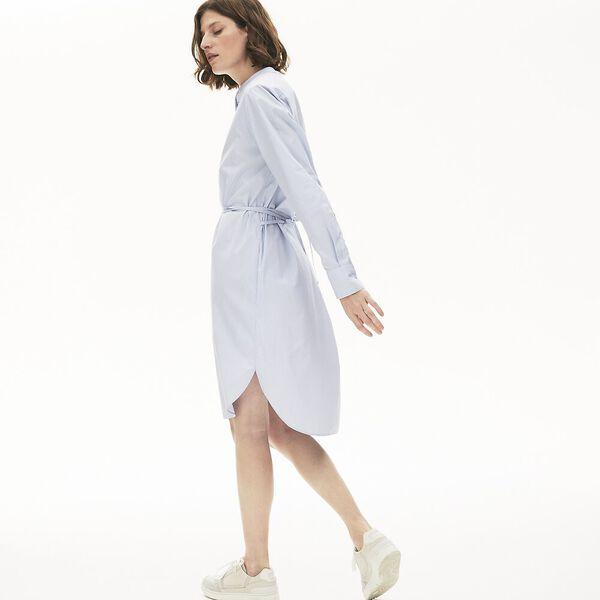Women's Cotton Shirt Dress, VIENNOIS, hi-res