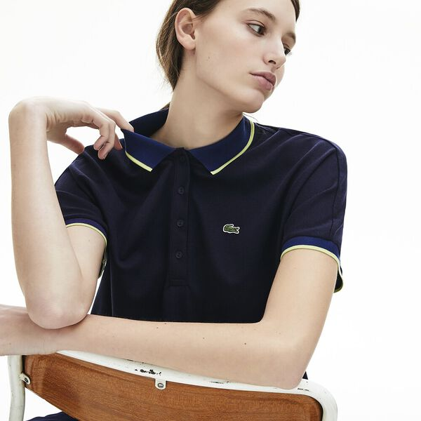 Women's Relax Fit Lacoste Polo Shirt, MARINE/METHYLENE-SUBAL, hi-res