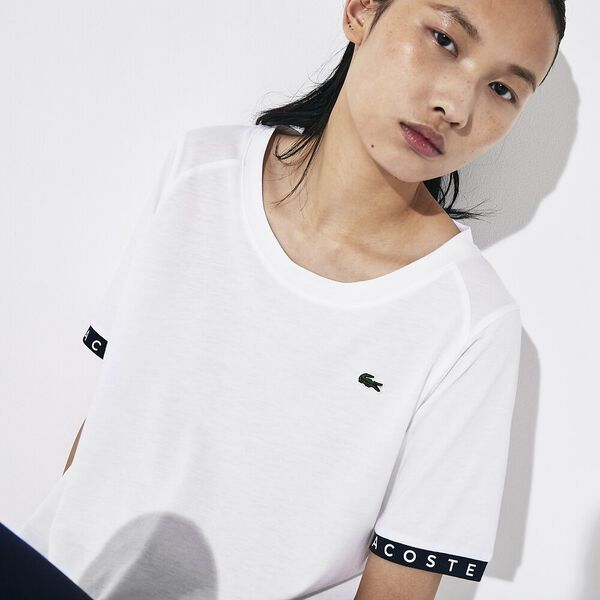 Women's SPORT Flowing Lettered Sleeve Tennis T-shirt