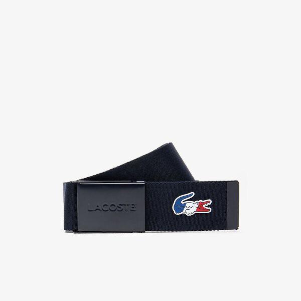 Men's French Sporting Spirit Edition Tricolour Crocodile Woven Belt