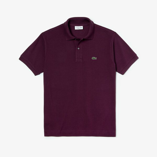 Men's L.12.12 Classic Polo, EGGPLANT, hi-res