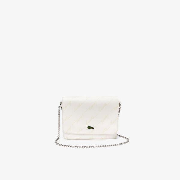 Women's Lacoste LIVE Embossed Signature Shoulder Bag