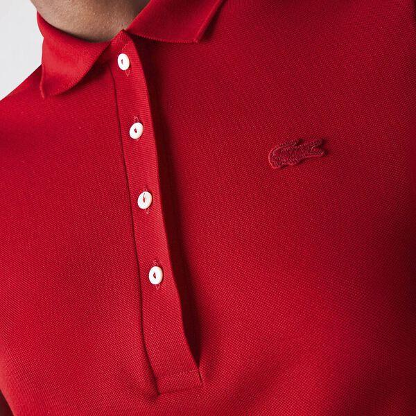 Women's Stretch Cotton Shirt, RED, hi-res
