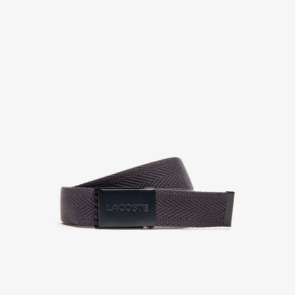 Men's Casual 35Mm Woven Belt, EBONY, hi-res