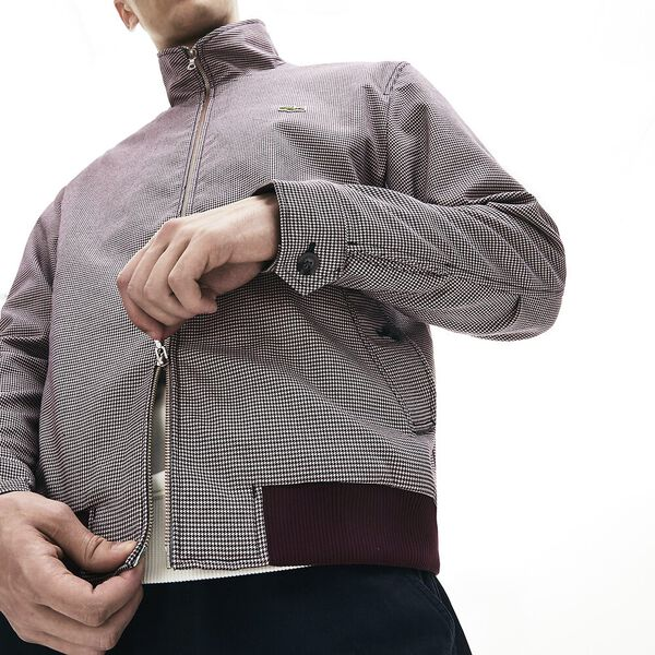 Men's Fall Countryside Check Twill Jacket, GEODE/NAVY BLUE-WINE, hi-res