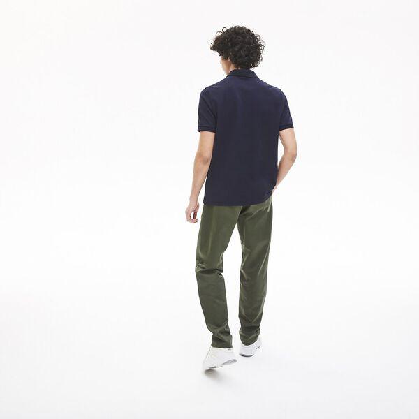 Men's LIVE Standard Fit Badge Cotton Piqué Polo, MARINE/NOIR, hi-res