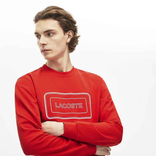 Men's Reflective Branding Crew Neck Sweatshirt, CORRIDA, hi-res