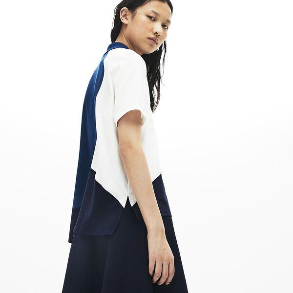 Women's Innovation Technical Pique Polo, NAVY BLUE/RAFFIA MATTING, hi-res