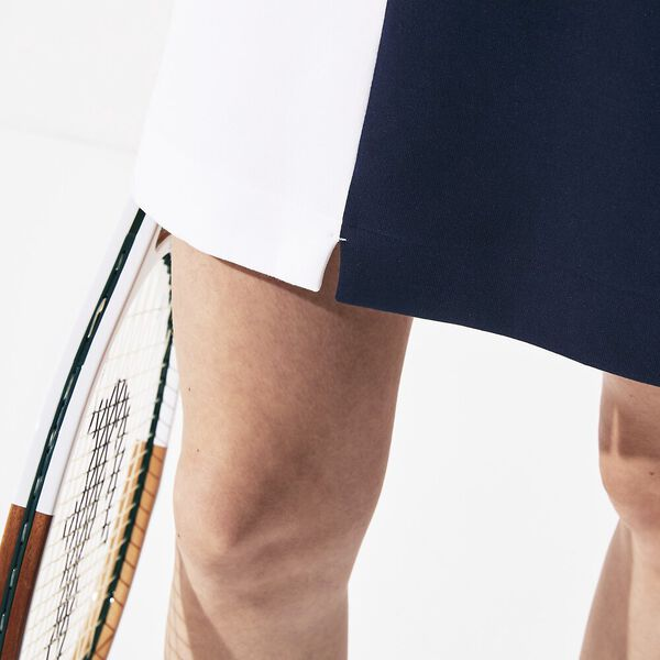 Women's SPORT Roland Garros Colourblock Skirt, BLANC/MARINE-BLANC, hi-res