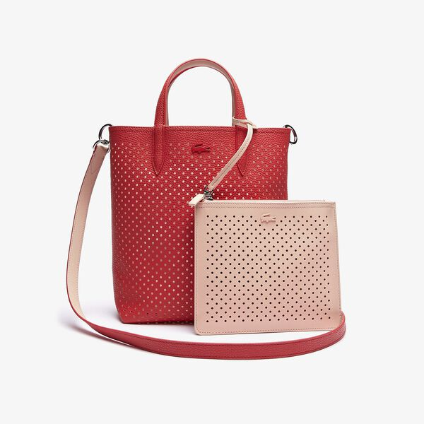 Women's Anna Removable Pouch Perforated Vertical Tote