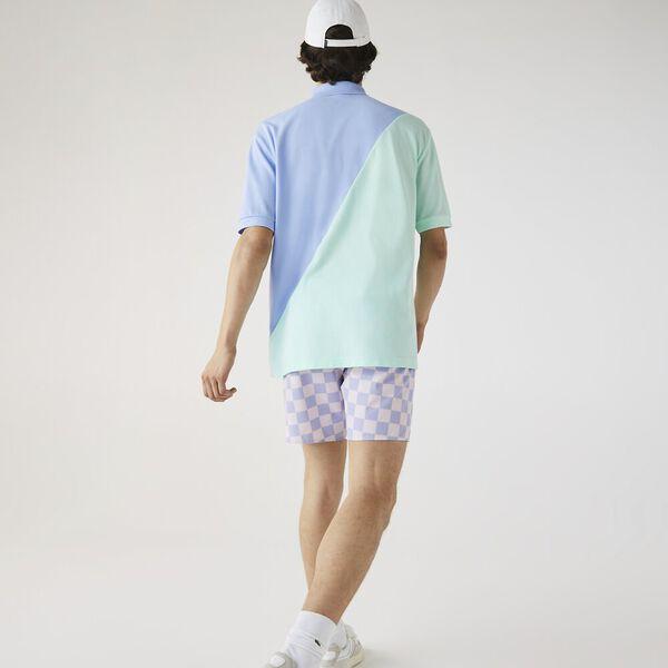 Unisex LIVE Loose Fit Colorblock Cotton Piqué Polo, NATTIER BLUE/SYRINGA, hi-res