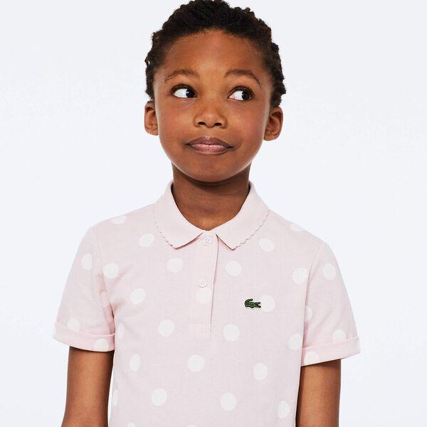 Girl's Polka Dot  Polo Shirt