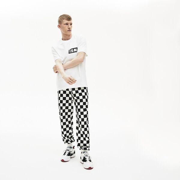 Unisex Lacoste LIVE Lacostism Print Cotton T-shirt, BLANC, hi-res