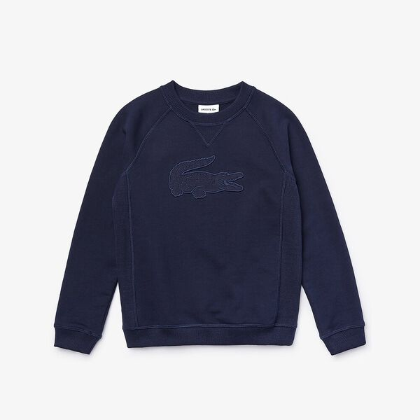 Boy's Crocodile Crew Neck Fleece Sweatshirt