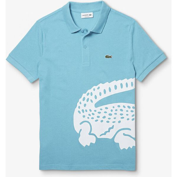Men's Lacoste Oversized Crocodile Print Polo Shirt, CICER, hi-res