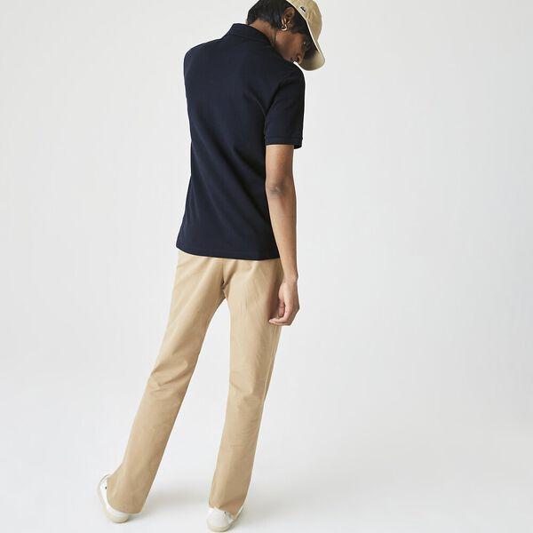 Men's Lacoste Regular Fit Solid Cotton Piqué Polo Shirt With Badge, NAVY BLUE, hi-res