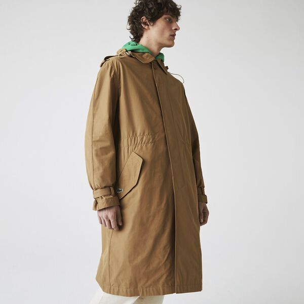 Unisex Solid Lightweight Canvas Trench Coat, LAVALIERE, hi-res