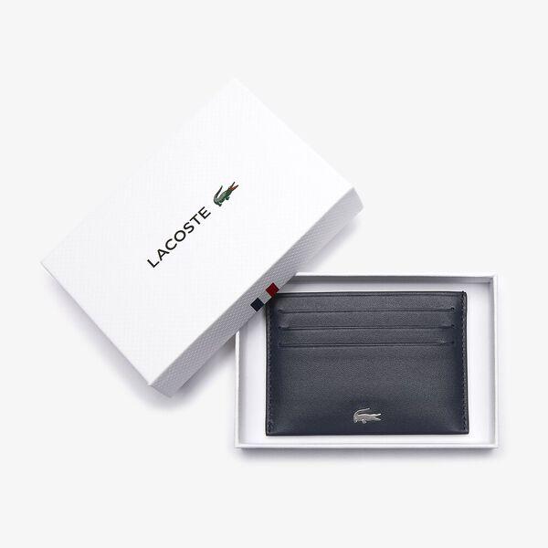 Men's Fitzgerald credit card holder in leather, MARINE 166, hi-res