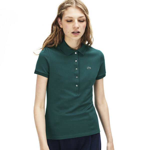 Women's 5 Button Slim Stretch Core Polo, BEECHE, hi-res