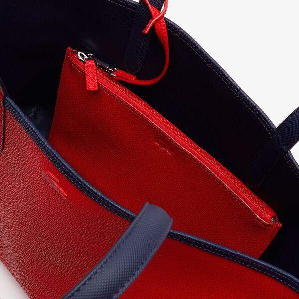 Women's Anna Reversible Bicolour Tote Bag, PEACOAT SALSA, hi-res