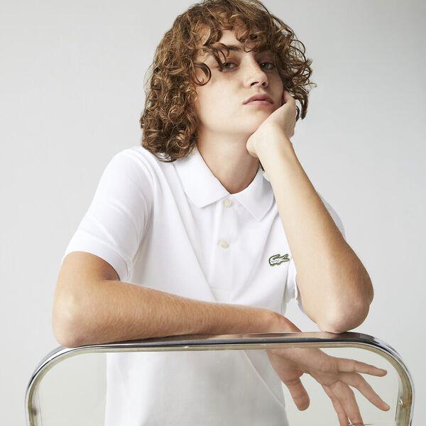 Unisex LIVE Standard Fit Stretch Cotton Piqué Polo, WHITE, hi-res
