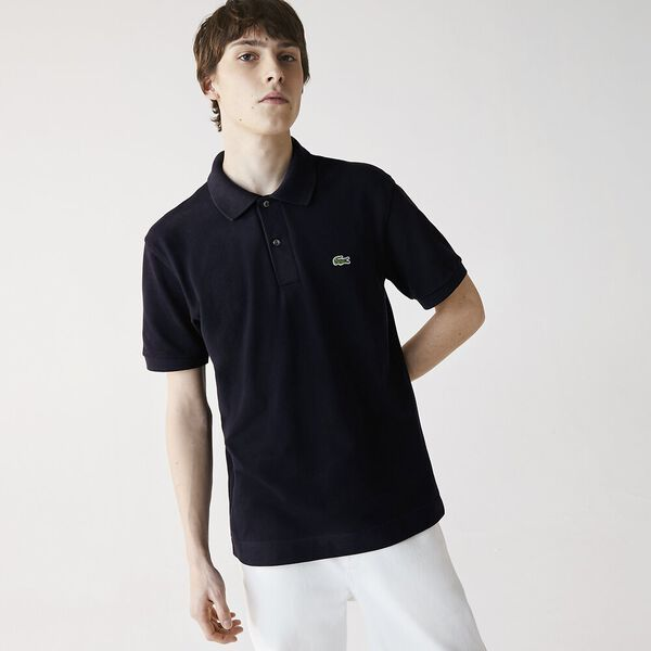 Men's L.12.21 Organic Cotton Polo, ABYSM, hi-res