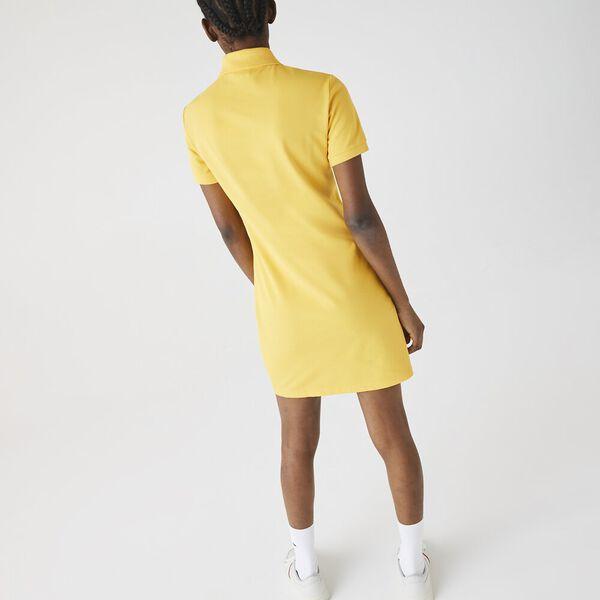Women's LIVE Stretch Cotton Piqué Polo Dress, ANTHEMIS, hi-res