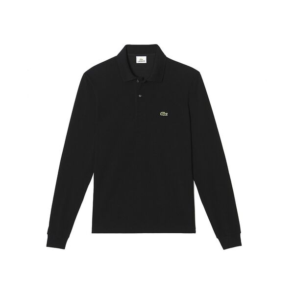 Men's Long Sleeve Classic Fit Polo, BLACK, hi-res