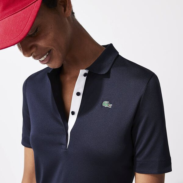 Women's SPORT Breathable Stretch Golf Polo Shirt, NAVY BLUE, hi-res