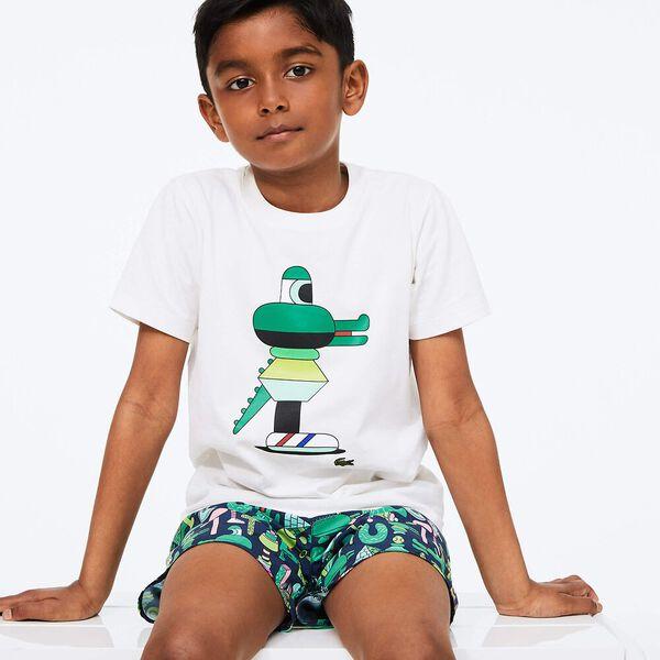Boys' Lacoste x Jeremyville Print Cotton T-shirt
