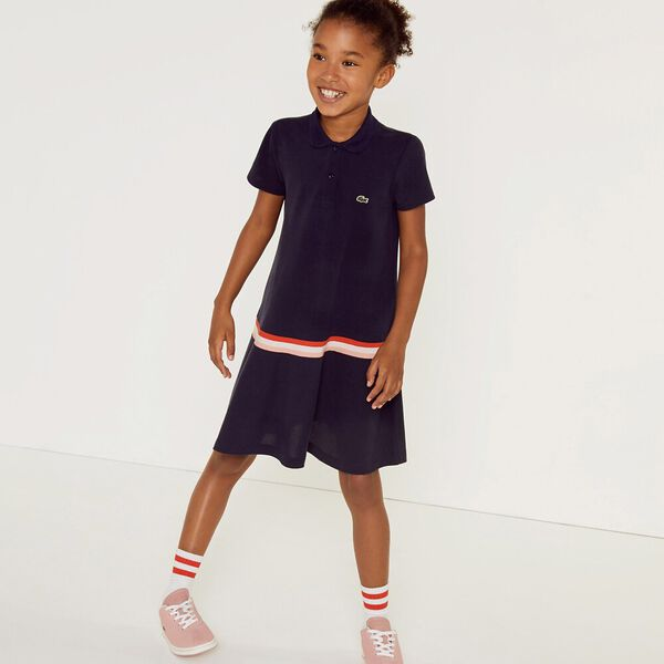 GIRLS BOTTOM PLEAT DRESS