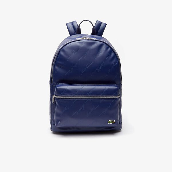 Men's Lacoste LIVE Signature Print Zippered Backpack