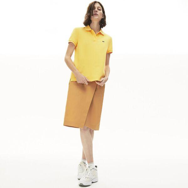 Women's Classic Fit Soft Cotton Petit Piqué Polo Shirt, DABA, hi-res
