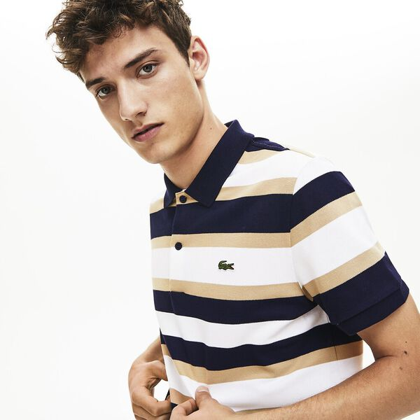 Men's Golden Week Reg Fit Stripe Polo