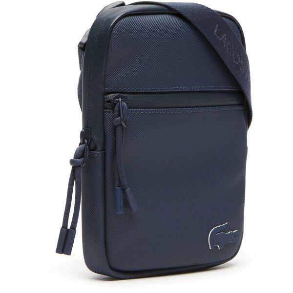 MEN'S L.12.12 CONCEPT SMALL FLAT CROSSOVER BAG, BLUE WING TEAL, hi-res